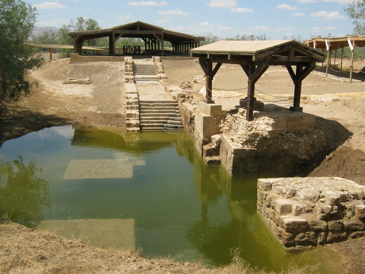 маршрут паломников в месте крещения Иисуса Христа.