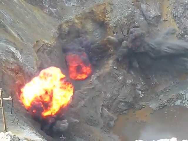 Взрыв в сибайском карьере в шахте СПР