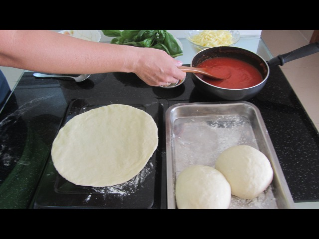 Làm Đế Pizza Дрожжевое Тесто для Пиццы Видео Рецепт Hướng dẫn nhồi bột bánh Pizza Quick Pizza dough Recipe