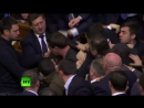 Balls Brawls- Big fight in Ukraine parliament after opposition MP goes for PM Yatsenyuk's crotch (online-video-cutter)