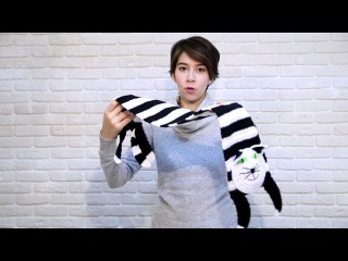 """Шарф """"Кот Матроскин"""" - вязаный шарфик ручной работы в виде кота"""