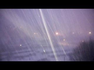 Мурманск, сильный ливневый снег