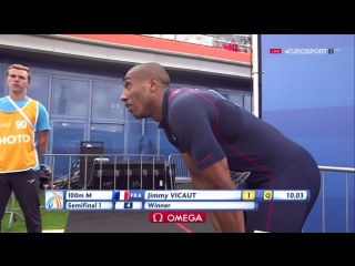 Jimmy Vicaut 100m Semifinal 1 Men's HD European Athletics Championships Amsterdam 2016