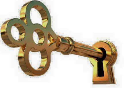 gold keyhole clipart - 820×591