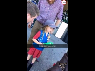 Arnold schwarzenegger helps out a girlscout sell cookies and shows the cast of celebrity apprentice