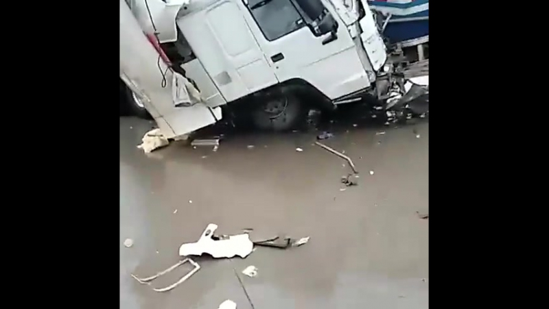 Авария на трассе Караганда Астана 28 06 16