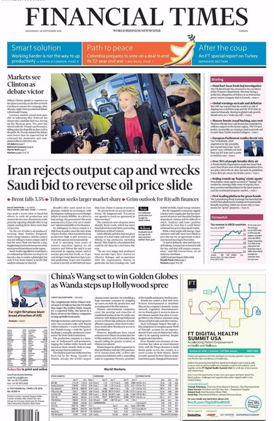 Financial Times Europe  September 28 2016