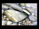 Creek with stones watercolor painting demo by Rukiye Garip