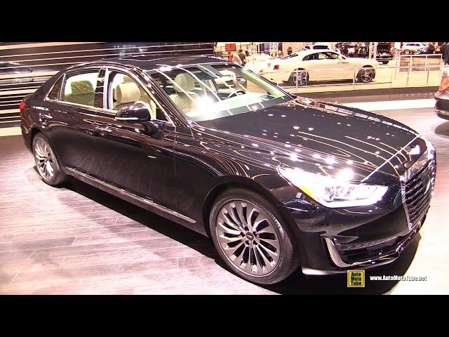 2017 Genesis G90 5.0T hTrac - Exterior and Interior Walkaround - 2016 Chicago Auto Show