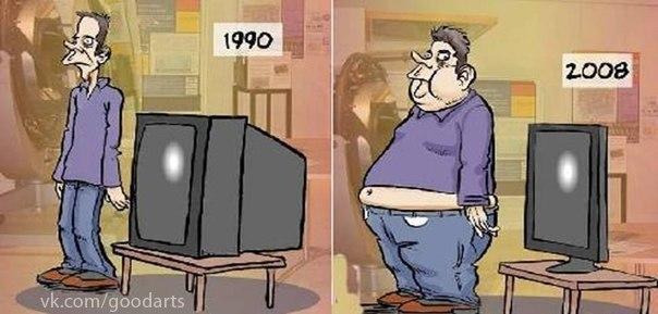 Ожирение и телевизор