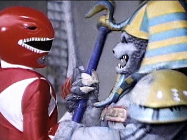 Red Ranger vs King Sphinx Goldar | Mighty Morphin Power Rangers Episode 4 A Pressing Engagement