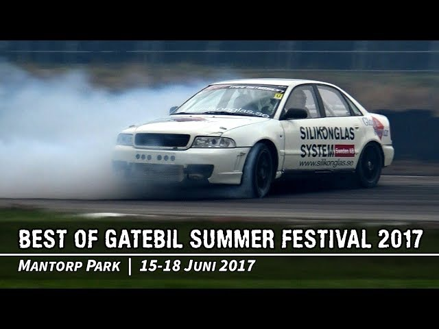 Best Of Gatebil Summer Festival Drifting på Mantorp Park 2017 ACTION, CRASHES MAX ATTACK!