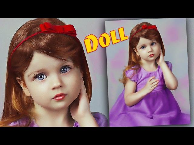 Кукольный образ в Фотошоп. Делаем ребенка-куклу