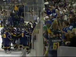 Maxim Afinogenov wins game 5 for the Buffalo Sabres against the New York Rangers in the 1st round of the 2007 playoffs /