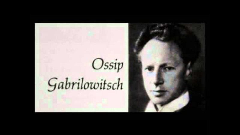 Chopin Ossip Gabrilowitsch 1905 Mazurka in B minor Op 33 No 4