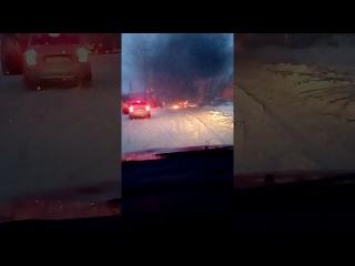 Возгарание авто в Г-1 около пожарной станции