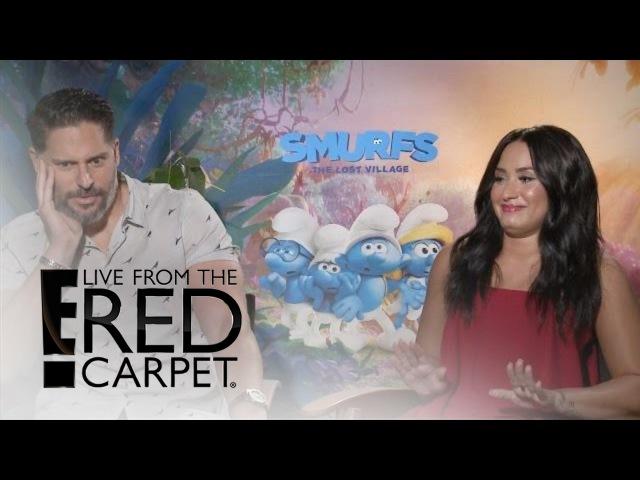 Joe Manganiello Demi Lovato Play That's So Awkward Game E Live from the Red Carpet