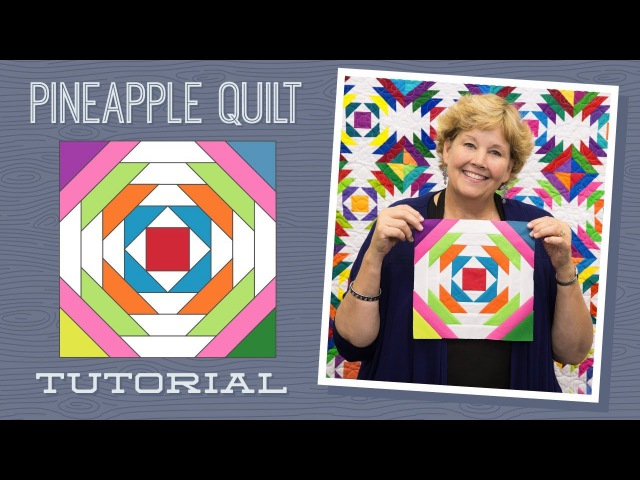 Make a Pineapple Quilt with Jenny Doan of Missouri Star Video Tutorial