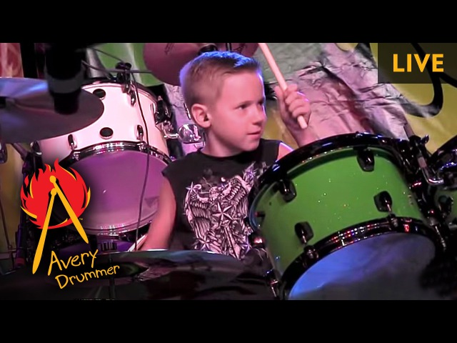 AC DC LIVE 7 year old Drummer Dirty Deeds Done Dirt Cheap