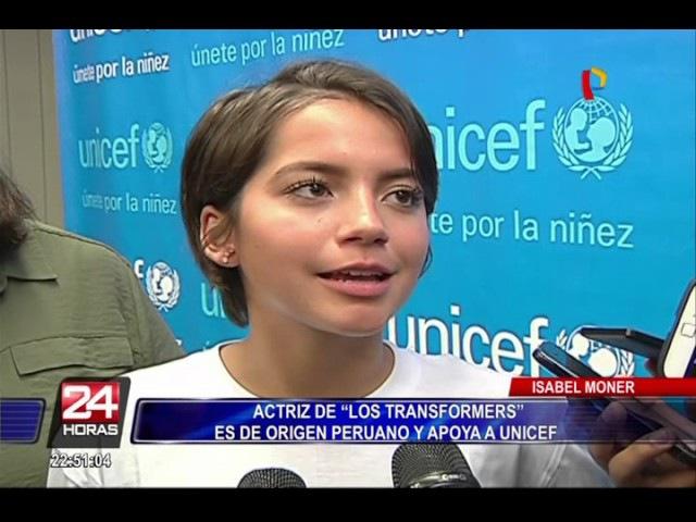 """Isabela Moner, actriz de """"Transformers"""", llegó al Perú para apoyar a Unicef"""