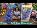 Kid's Dinosaur Toys Imaginext Ultra T Rex Dinosaur Ice Age Edition Unboxing Playtime