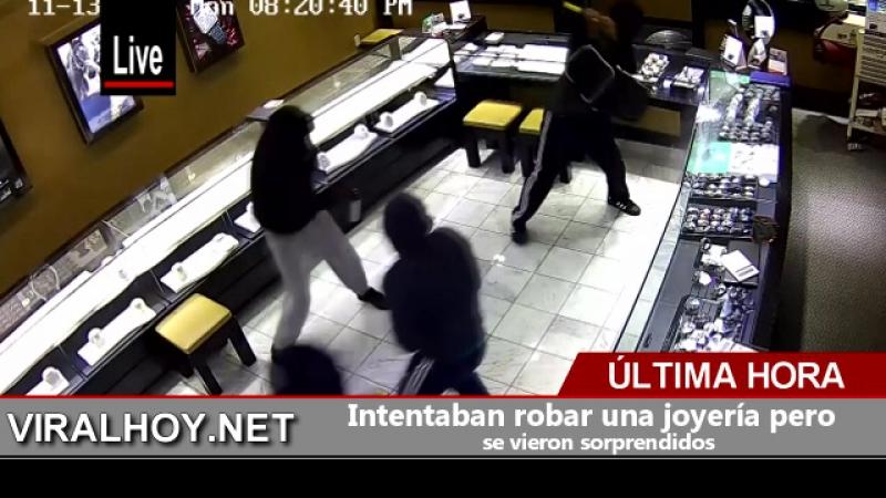 Intentaban robar una joyería pero se vieron sorprendidos