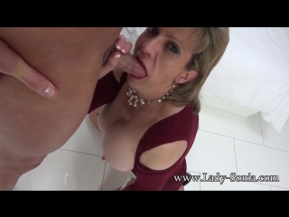 Lady sonia (a fan shoots his cum all over me part two) [milf, big tits, blowjob, 1080p, porn]