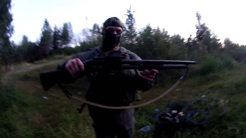 Ружье ИЖ-81 ,краткий обзор и темповая стрельба.от Аскольда