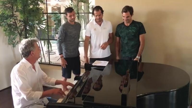 Tennis tenors paráda Poznáš tyto borce umí také zpívat