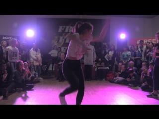 Free Flow Fest 2017.  Dancehall begginers 1/16.  Балакирева Саша vs. Некрасова Таня