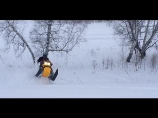Горный снегоход ! BRP Summit 800. Новый глушитель.