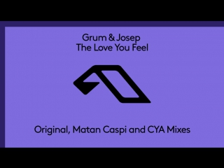 Grum  josep   the love you feel (matan caspi remix)