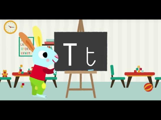 Les lettres de l'alphabet Apprendre à écrire le T avec Pinpin et Lili