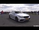 Mercedes-Benz E63 AMG - BURNOUT, REVS, DRAG RACING!!