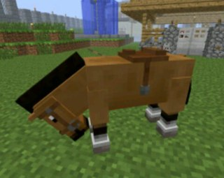 как на лошадь в майнкрафте надеть седло #7