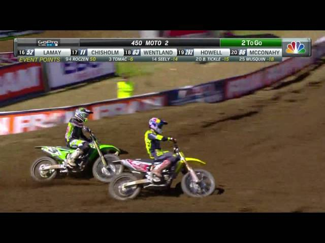 Tennessee 450 Moto 2 Roczen Tomac's epic battle