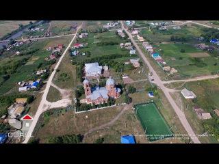 Аэросъемка села Слобода Архангельская (Новошешминский район, Вознесенская церковь)