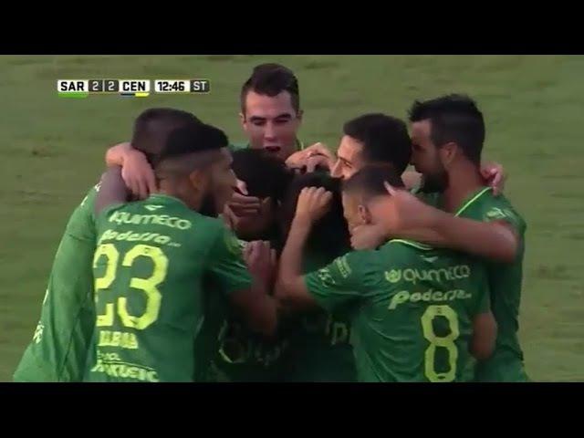 Sarmiento de Junín vs Rosario Central 2 2 Primera División 2017 todos los goles resumen
