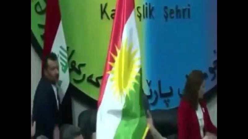 هةلكردنى ئالاى كوردستان لة كةركوك kirkuk 2017