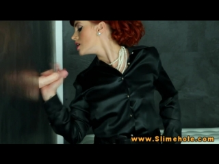 Kety pearl red head bukkake sprayed gloryhole porn