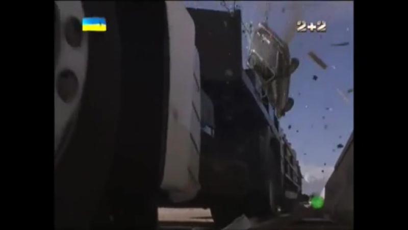 Спецотряд Кобра 11 car crash scene Jaguar XJ8 Iveco Ford Escort Mk3