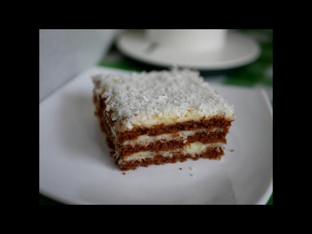 Торт без выпечки КОКОС. Нежный торт Баунти