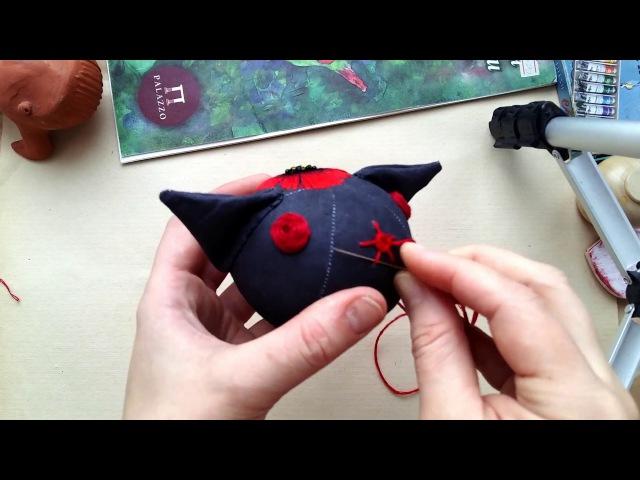 Вышивка лоб кошки1