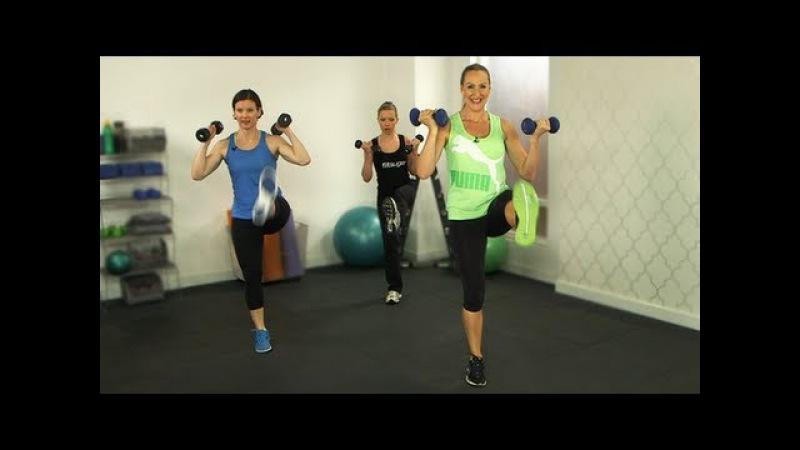 Тренировка Тело бикини с Андреа Орбек Фитнес Bikini Body Workout Andrea Orbeck Fitness Class FitSugar