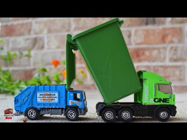 Garbage Truck Videos For Children l Grouchy Truck vs Blue Garbage Truck l Garbage Trucks Rule