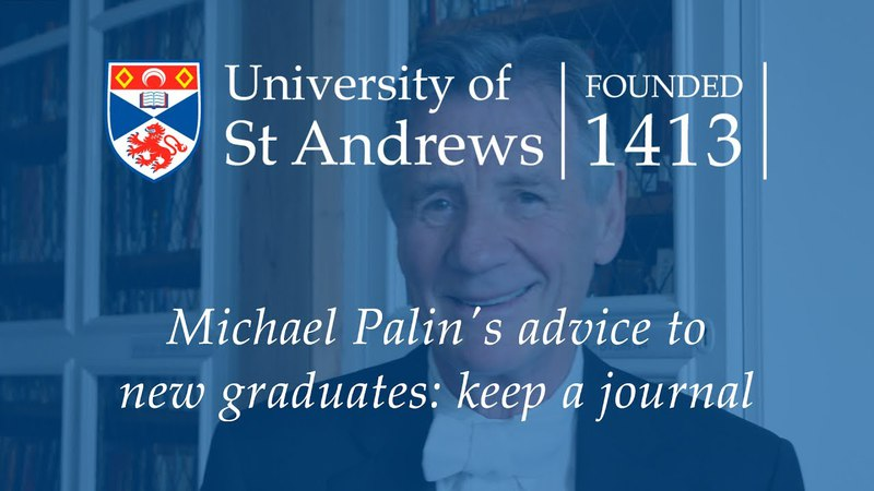 Michael Palin's advice to new graduates