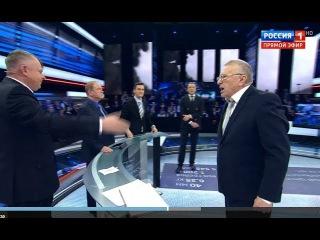 Скандал на шоу! Справедливый Жириновский не смог сдержаться после слов вруна, сволочи и дебила Трюхана