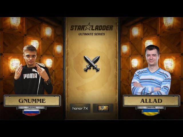 Gnumme vs Allad StarLadder Hearthstone Ultimate Series