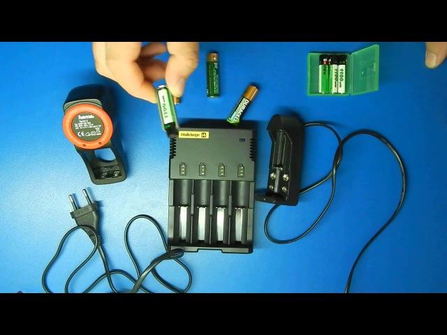 Аккумуляторы Soshine 1100mah Ni-MH и зарядное от NiteCore i4
