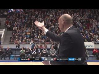 Баскетбол. Еврокубок   Зенит 78:80 Бавария